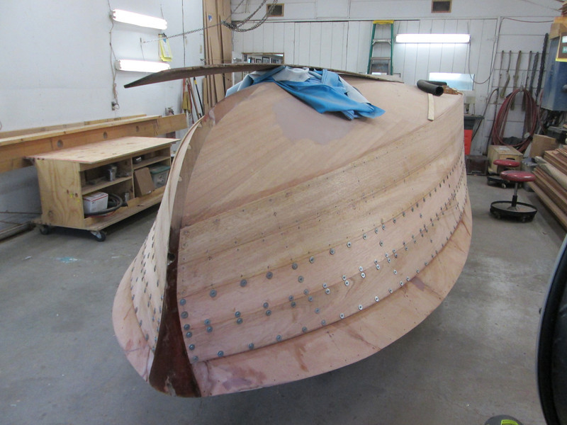 Starboard front view of second two planks.