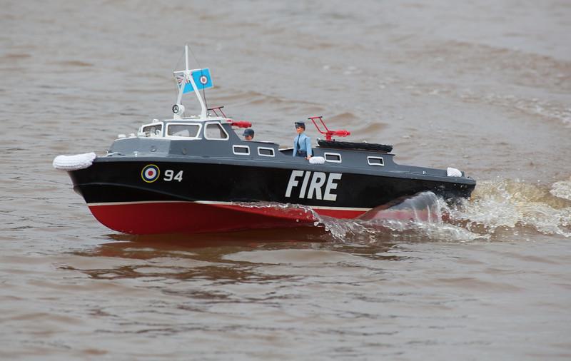 94, Fire, Launch, RAF crash tender, Ray Hellicar, SRCMBC, Solent Radio Control Model Boat Club
