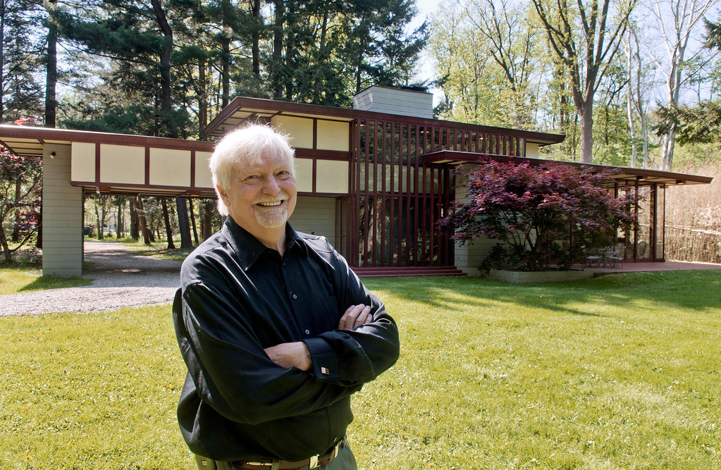 . Duncan Scott/DScott@News-Herald.com Paul Penfield has put the Louis Penfield House in Willoughby Hills up for sale. The home was designed by Frank Lloyd Wright for Paul\'s father Louis Penfield.