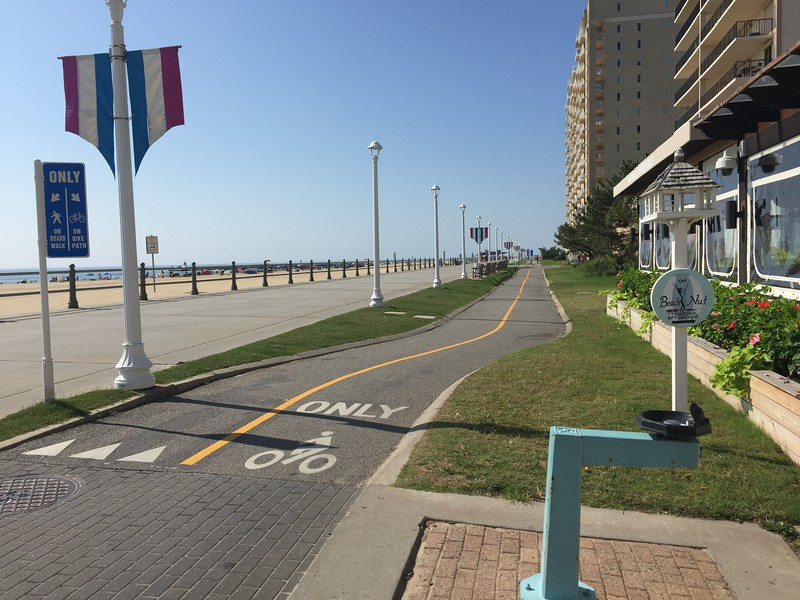 The boardwalk at Virginia Beach.