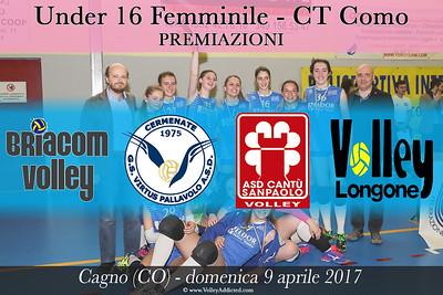 CO-u16f Finali Campione Territoriale: Premiazioni