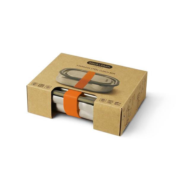 Stainless Steel Lunch Box orange packaging Black Blum