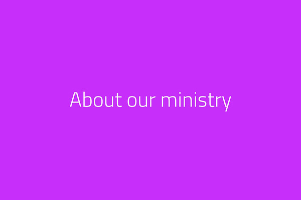 About our ministry