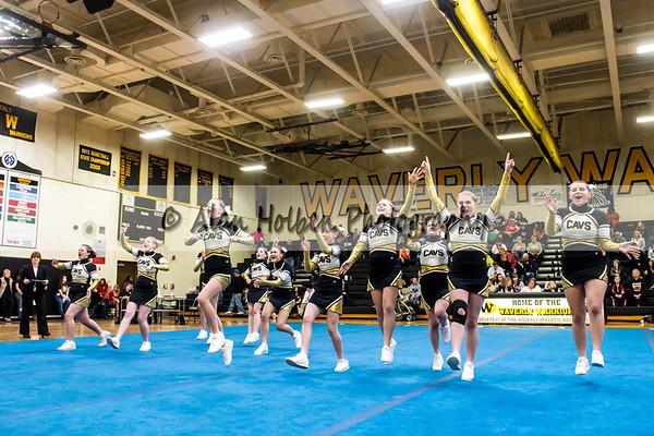 Cheer league meet at Waverly - Corunna