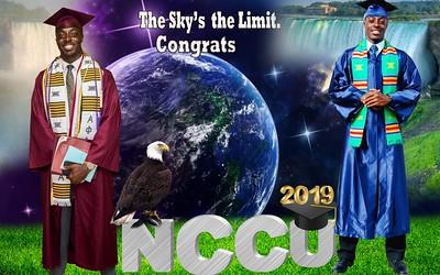 Danzel Goodlin -Graduation 2019 - CUM LAUDE - North Carolina Central University