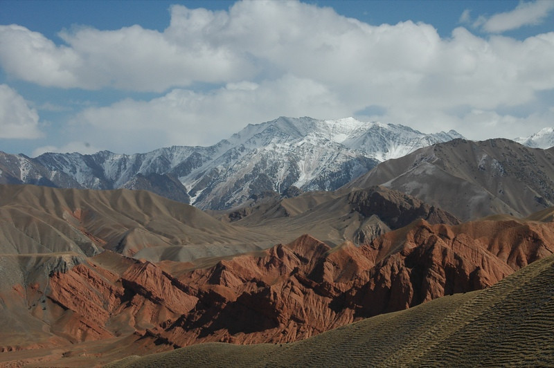 Snow-Capped Mountains - Osh to Sary Tash, Kyrgyzstan