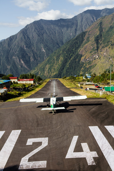 Airplane grounded on runway - Nepal