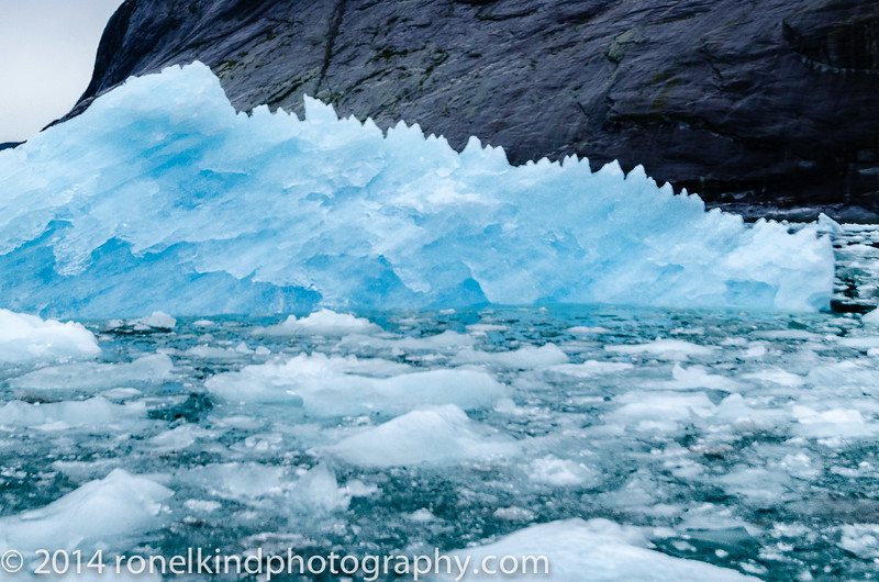 And, just as I was photographing this magestive iceberg, it bounced violently and ...