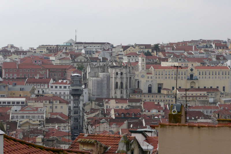 View of the City from Café Chapitô. Alfama, Lisbon