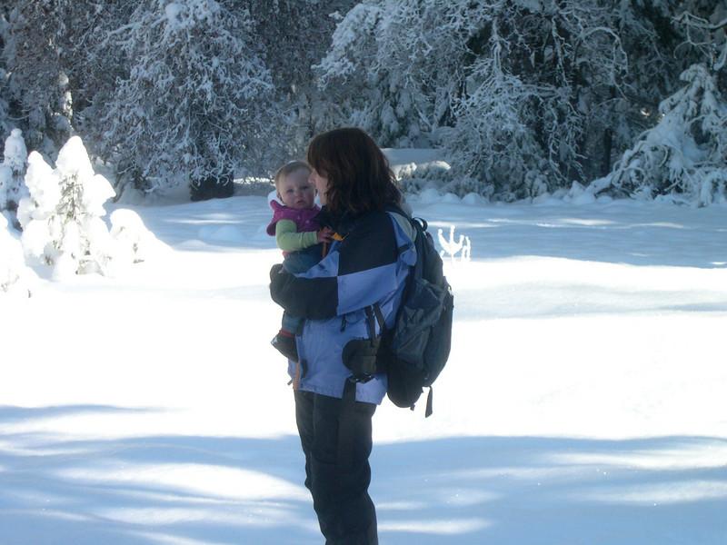 Patty carrying Kelly CA USA