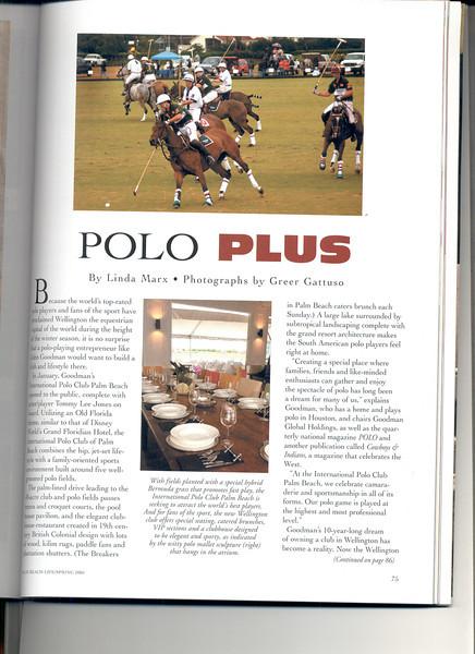 Palm Beach life issue about interior design on The International Polo Club Palm Beach.
