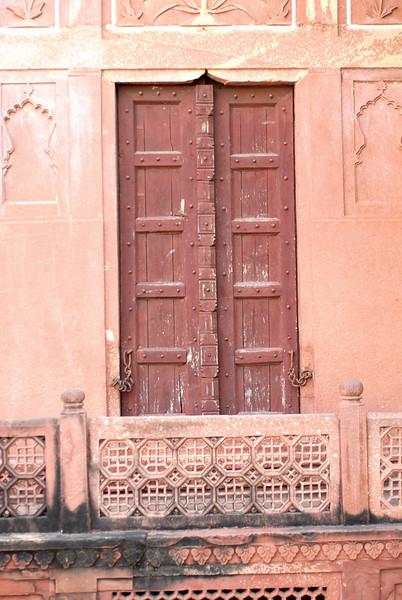 A door at Taj Mahal.