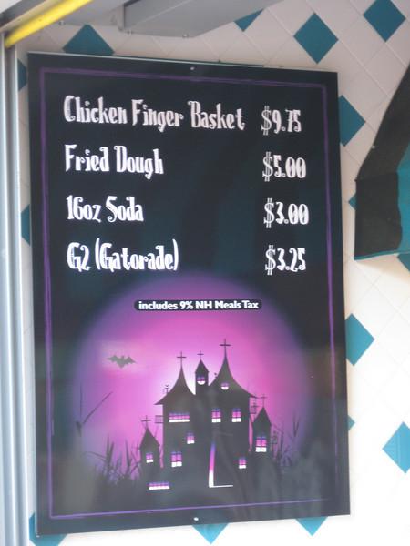 Be-Bop Diner's new menu.