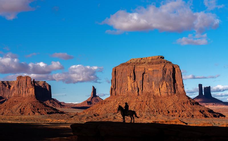 Cowboy at John Ford Point