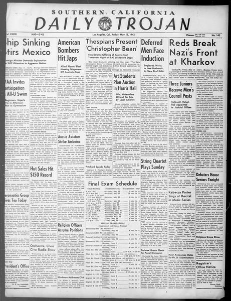 Daily Trojan, Vol. 33, No. 143, May 15, 1942
