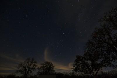 Geminids Meteor Shower and Texas night sky