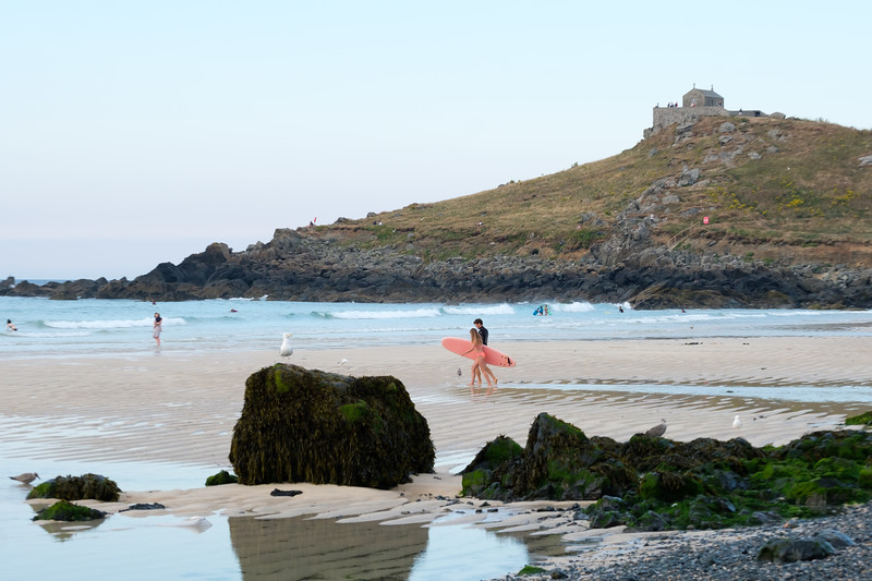 Surfers in St. Ives