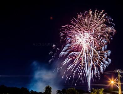 Fireworks.... & A Light Pole....