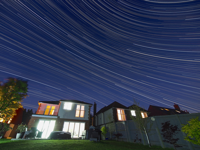 Reverse Arc Star Trail