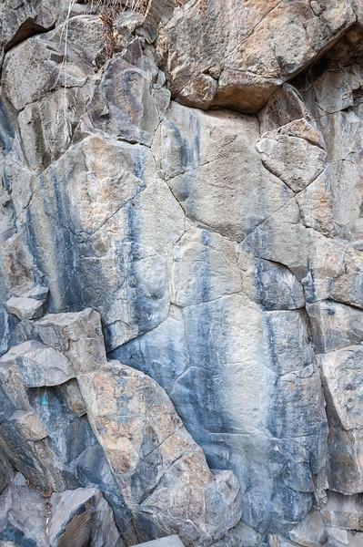 Basaltos Columnares, Cerro Santa Lucía, Santiago, Chile