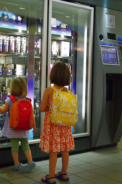 A vending machine selling expensive electronics — it's as if we landed in Japan!