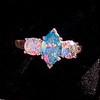 1.73ctw Blue Marquise Cut Diamond Trilogy Ring 7