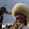 "Ailsholpan Nurgaiv - the youngest and first female to participate in the festival. She won the title two years ago when she was only 13! A BBC documentary called ""The Eagle Huntress"" on Aishoplan will be released soon"