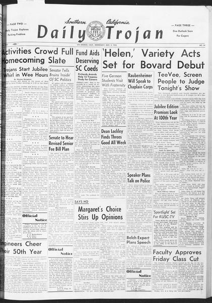 Daily Trojan, Vol. 47, No. 34, November 02, 1955
