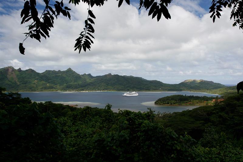 Tahitian Princess anchored at Maroe Bay.