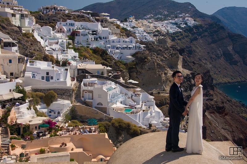 Wedding photos at Oia
