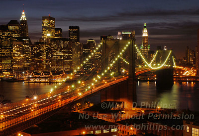 Brooklyn Bridge Aglow