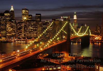 Brooklyn Bridge Aglow