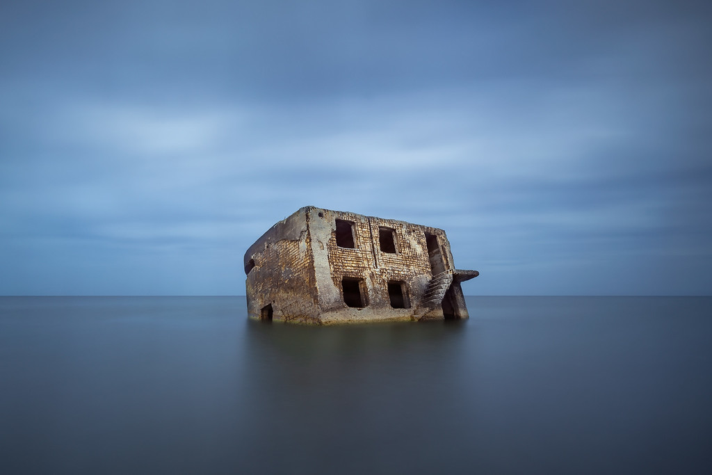 Photograph: Fortress - The tide rises over an old Russian sea fortress off the coast of Liepāja in Latvia.