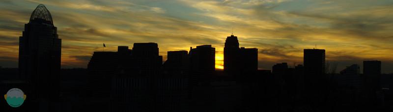 Cincinnati December Sunsets