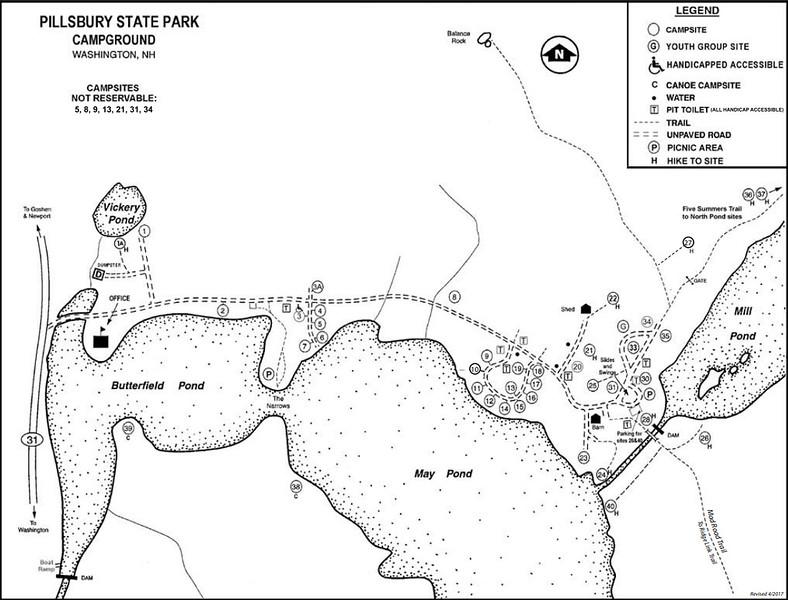Pillsbury State Park (Campground Map)
