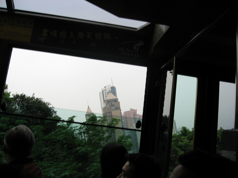 Climbing up the Tram railway
