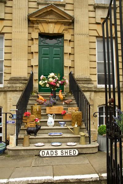 Cotswold, England, Street Scene, Door, Commerce