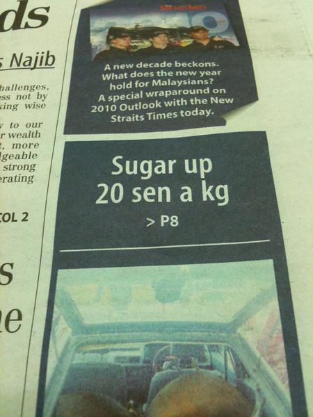 Prices of teh tarik going up I'm sure