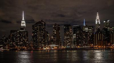 NYC Night - Gantry PK, Brooklyn Br 2013