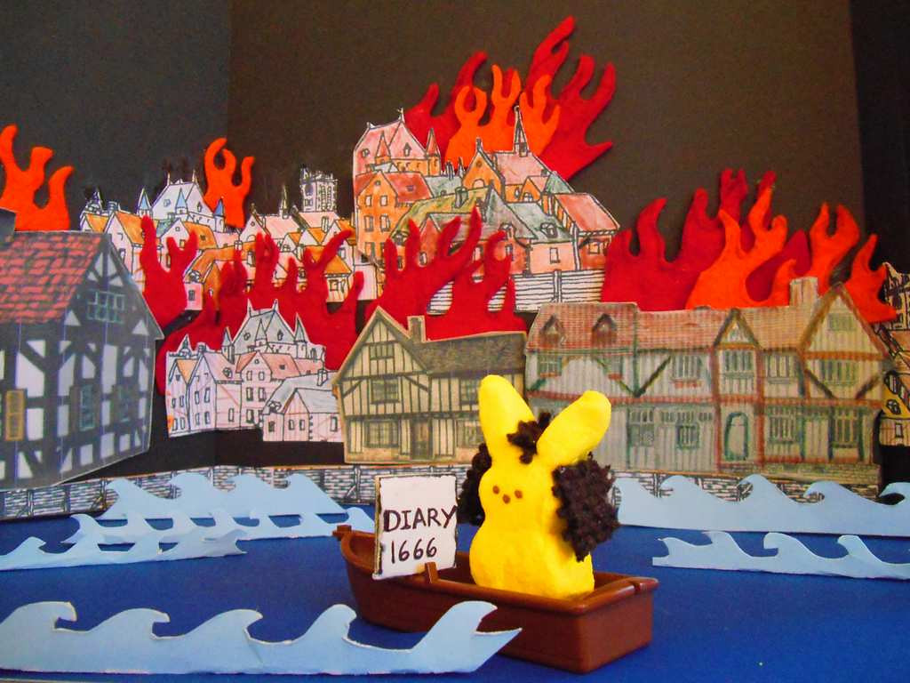 """. \""""Great Fire of London, 1666,\"""" by Chris Dopson"""