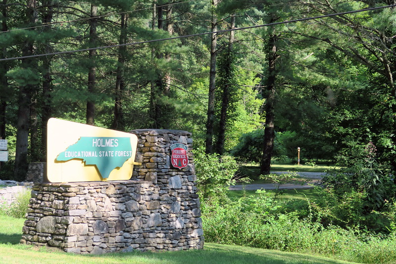 Holmes Educational State Forest Entrance