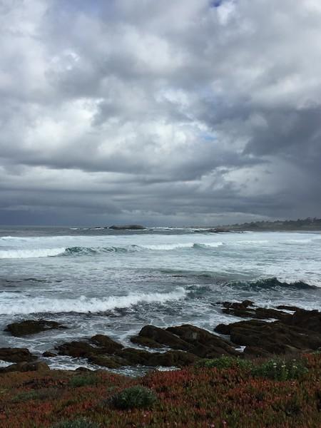 Rainy day on Monterey Bay