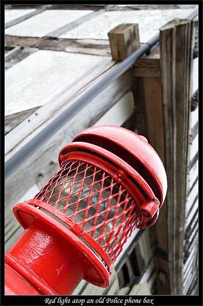 Light on top of an old public policefireambulance call box (81272397).jpg