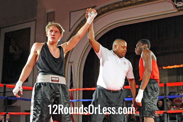Bout 1 Colsen Enderby, Freedom Fighters, New Philadelphia -vs- Rashad Chisholm, EB Turner Rec, Cleveland HS, Sub-Novice, 165 lbs