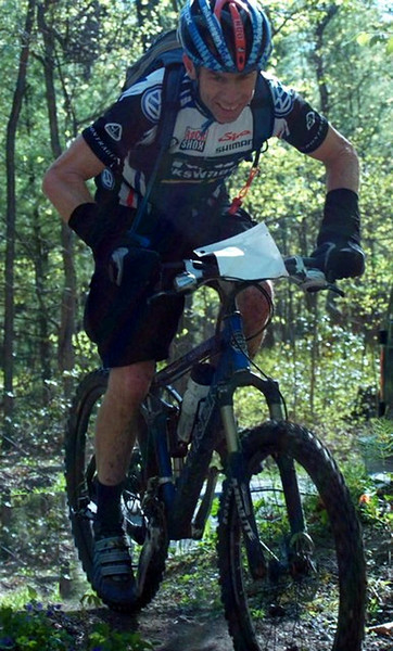 A 50 mile mountain bike race May 2007, Michaux PA. WOW! I was found smileing throughout the course or perhaps it was a grimice.