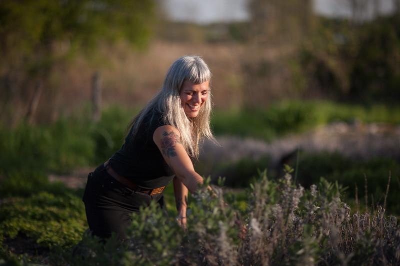 Edible Hudson Valley Magazine shoot on women herbalists. Lauren Giambrone