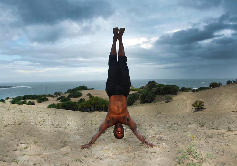 Headstand ~ Lamu Island, Kenya