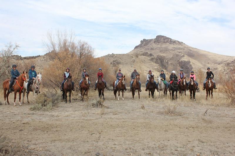 26 ears! All Belesemo Arabians at the Great Owyhee Pie Ride, Succor Creek, Oregon