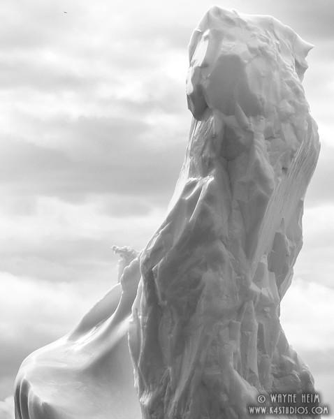 Iceberg   25  Black and White Photography by Wayne Heim