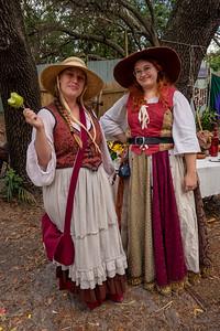 Renaissance Village Ladies Enjoying the Festival